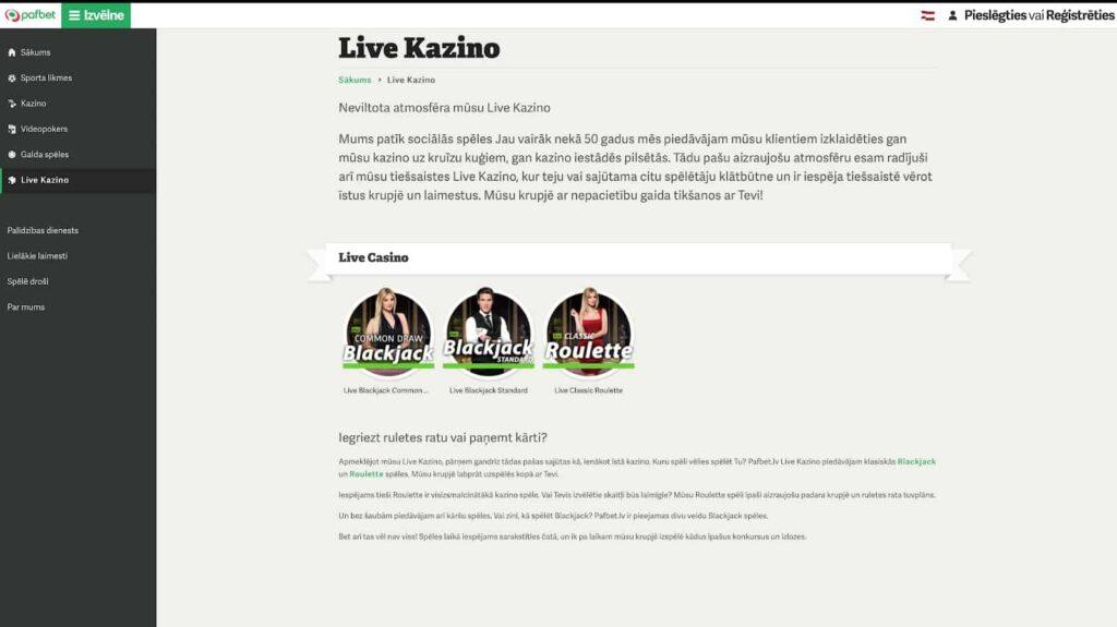 pafbet-live-kazino