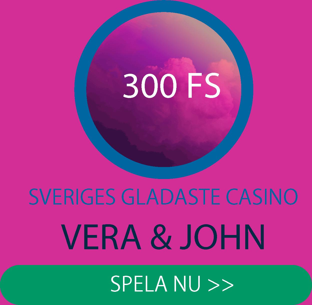 Casinobonusar i Vera&Johns shop